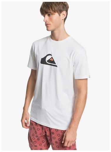 Quiksilver Quiksilver EQYZT05750-WBB0 Erkek T-Shirt Beyaz
